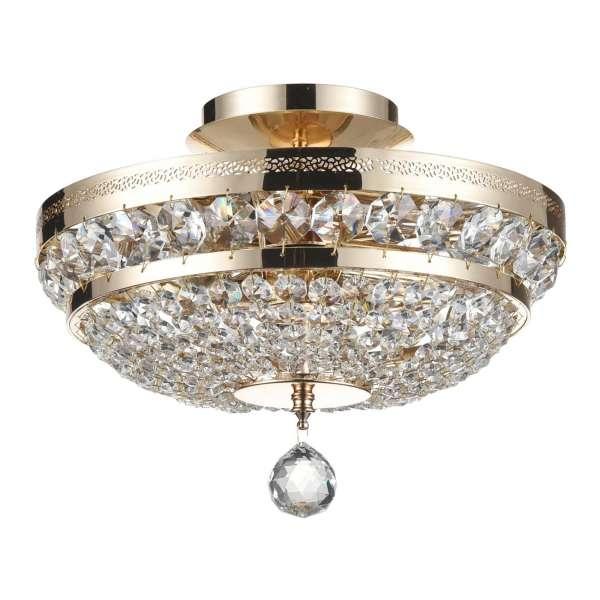 Kristall Deckenleuchte: OTTILIA III gold