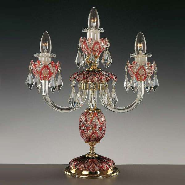Kristall Tischleuchte: KELLY III color