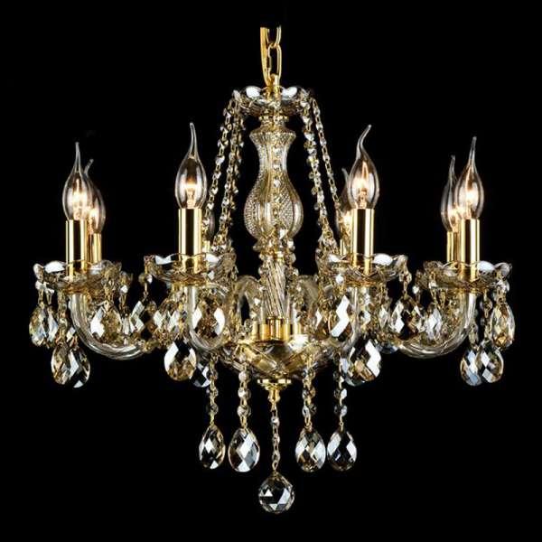 Kristall Kronleuchter: BRANDY VIII gold