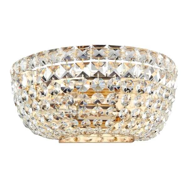 Kristall Wandleuchte: BASFOR II WL gold