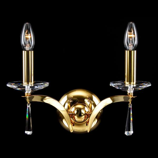 Kristall Wandleuchte: W-02 Coated brass-A