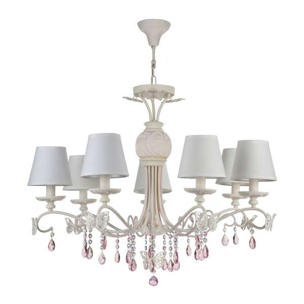 Klassischer Kronleuchter: FIONA VII pastel-pink