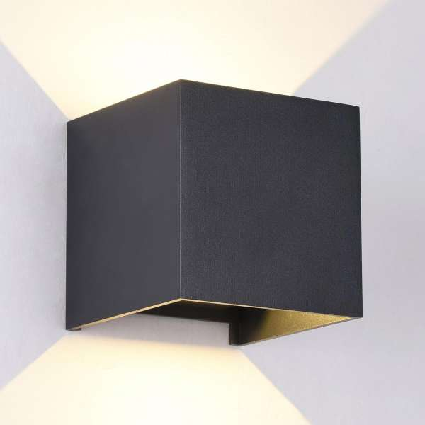 LED-Außenwandleuchte: FULTON I-B WL black