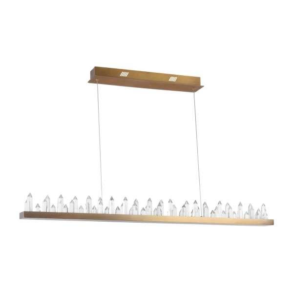 LED-Pendelleuchte: GLETSCHER 53 PL brass