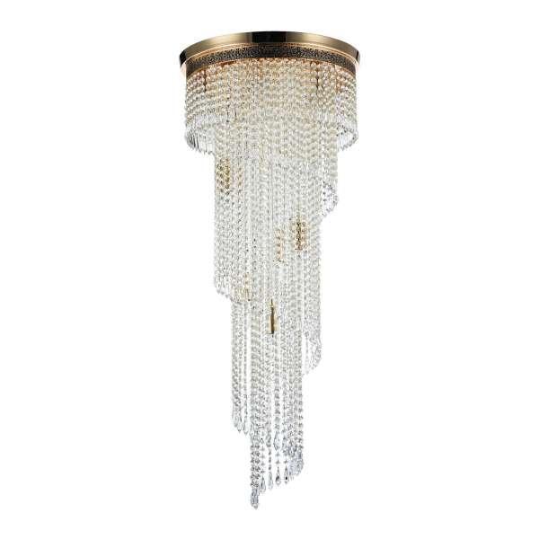 Kristall Deckenleuchte: CASCADE XII gold