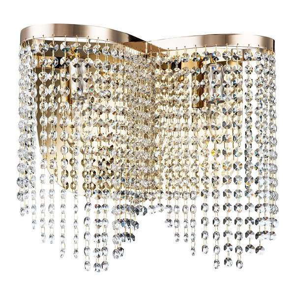 Kristall Wandleuchte: TOILS II WL gold