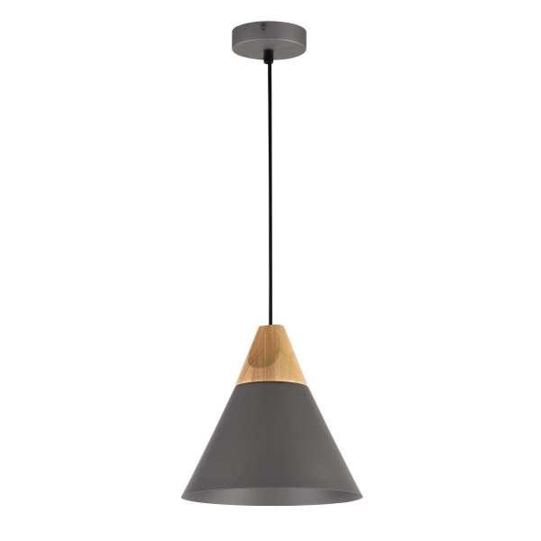 Moderne Pendelleuchte: BICONES I PL grey (22cm)