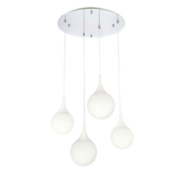 LED-Pendelleuchte: DEWDROP IV PL white