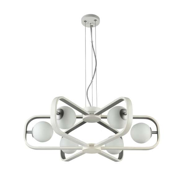 Moderne Pendelleuchte: AVOLA VI PL white-silver