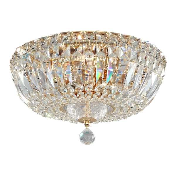 Kristall Deckenleuchte: BASFOR III gold