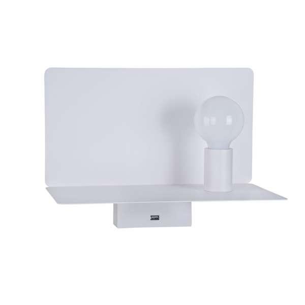 Moderne Wandleuchte mit USB-Port: RACK I WL white