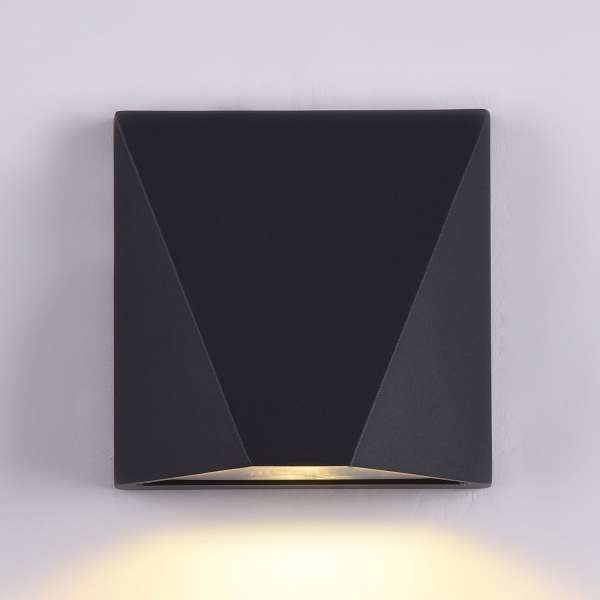 LED-Außenwandleuchte: BEEKMAN I-B WL black
