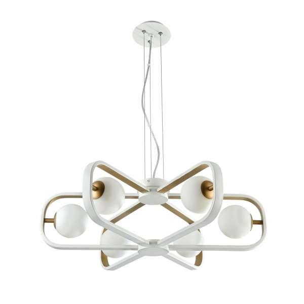 Moderne Pendelleuchte: AVOLA VI PL white-gold